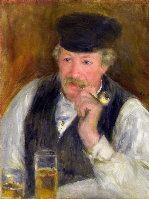 """Monsieur Fournaise, dit l'Homme à la pipe"" - Renoir, 1875, Sterling and Francine Clark Art Institute Williamstown - Mass."