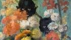 Les amis de la Maison Fournaise ile de Chatou l'auberge du père Fournaise:les peintures murales, les caricatures restaurées en 1984 par Matei Lazarescu diplômé de l institut des Beaux-Arts de Bucarest en 1972