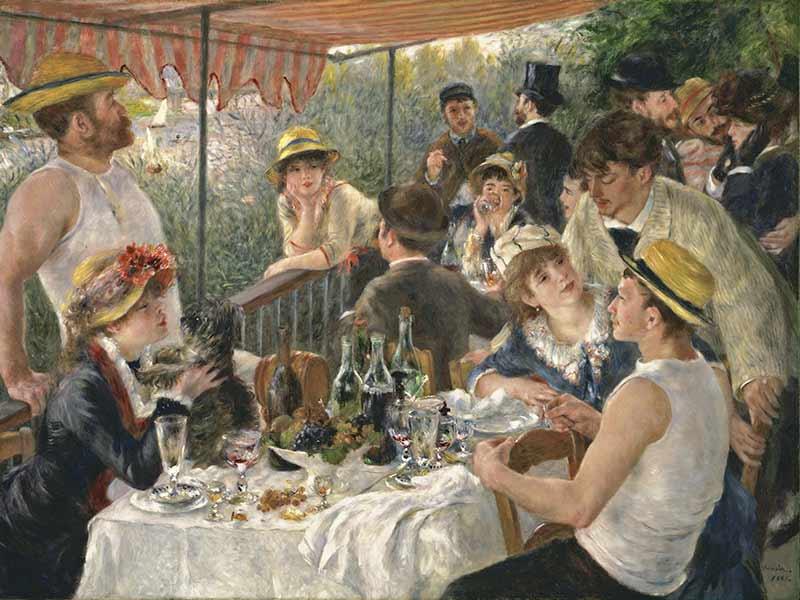 Auguste Renoir le déjeuner des canotiers 1880-1881 USA Washington Phillips Collection