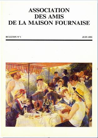couverture du bulletin numéro 1 des amis de la maison Fournaise Chatou