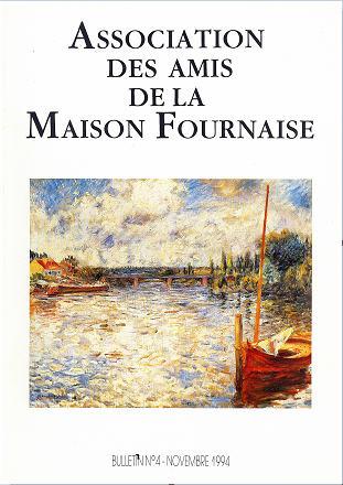 couverture du bulletin numéro 4 des amis de la maison Fournaise Chatou