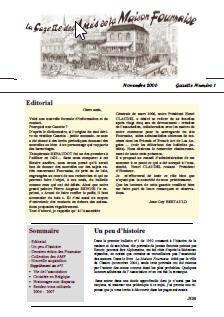 amis de la maison Fournaise gazette n°1
