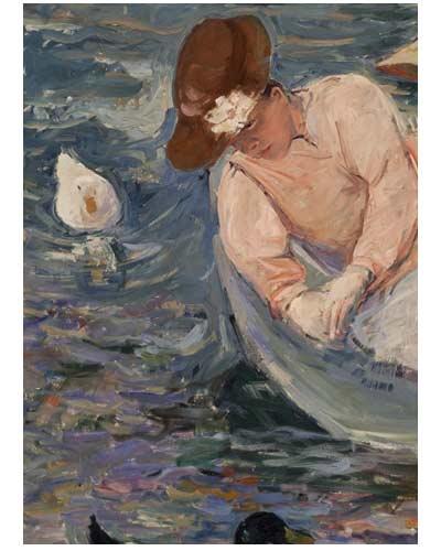 affiche de l exposition du musée Jacquemard André exposition Mary Cassatt une américaine à Paris Amis Maison Fournaise