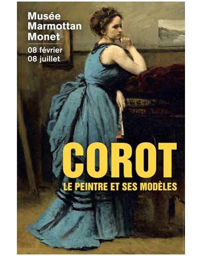 affiche de l exposition du musee monet marmottant:Corot  le peintre et ses modeles amis maison fournaise chatou